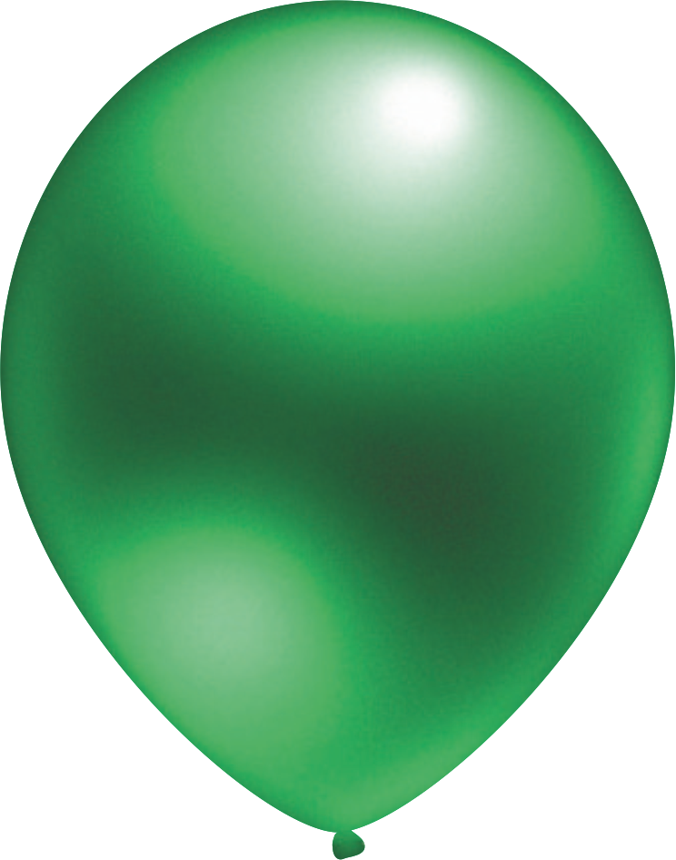 Ballon Metallic Grün