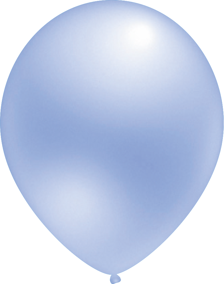 Ballon Metallic Hellblau