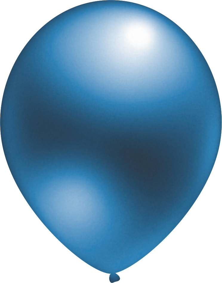 Ballon Metallic Blau